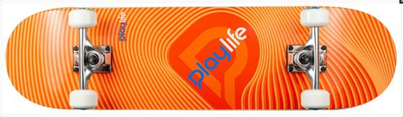 Deskorolka Playlife Illusion Orange